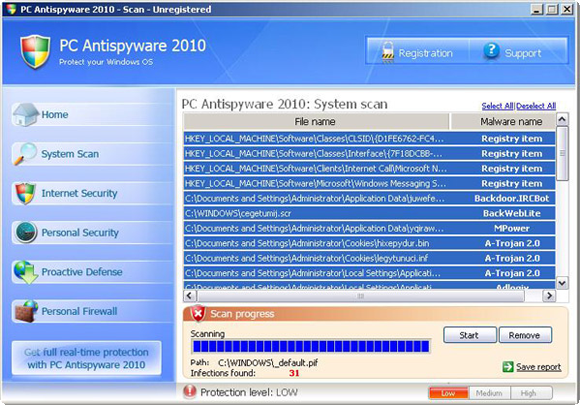 PC Antispyware 2010